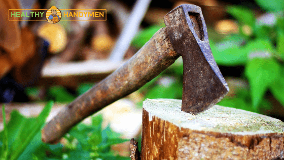 Cutting Wood using a sharp Ax