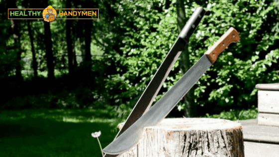 Wood Cutting using a sharp Machete
