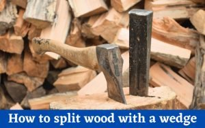 How to split wood with a wedge